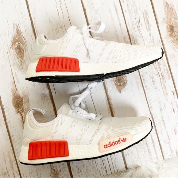 Adidas Shoes Nmd R1 White Rose Poshmark